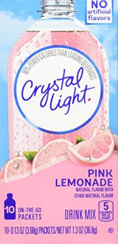 - Crystal Light On The Go Pink Lemonade, 10-Packet Box (Pack of 4)