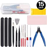 Findfly 15Pcs Gundam Modeler Basic Tools Craft Set Model Tools Kit for Professional Hobby Model Assemble Building