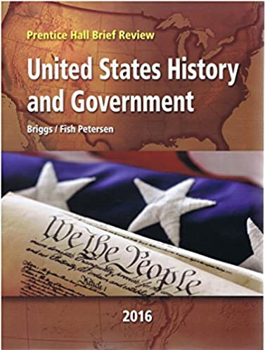 2016 prentice hall brief review united states history and government rh amazon com prentice hall us history note taking study guide answers Government and Us History Textbook
