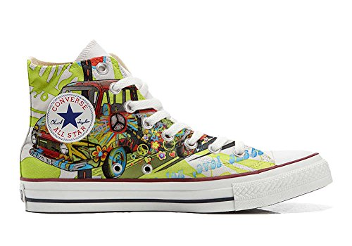 Converse All Star Chaussures Coutume Mixte Adulte (Produit Artisanal) Peace and Love 0OIPeyXyo