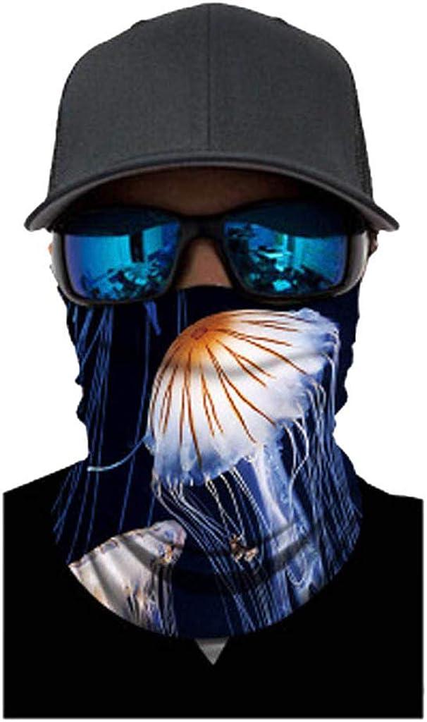 riou Herren Schlauchtuch Motorrad Multifunktionstuch Face Shield Bandana Halstuch Sturmhaube f/ür Nickituch Biker Fischen Wandern
