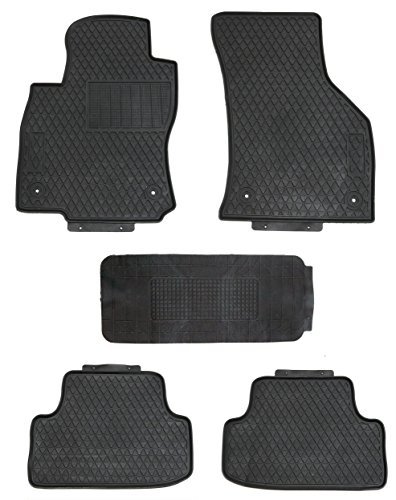 (TMB Motorsports All Weather Floor Mats for Volkswagen Golf/eGolf/GTD/GTI/R 2015+)