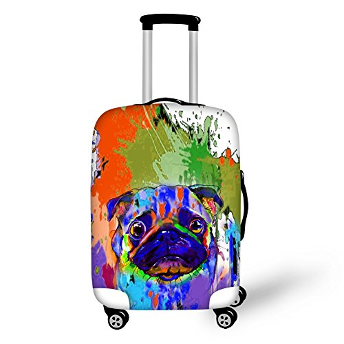 Coloranimal Art French Bulldog Trolley Case Protective Luggage Cover for 26-30 Inch Suitcase For Sale