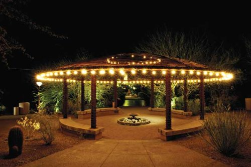 bulbrite outdoor garden patio wedding party holiday lawn and landscape string light bulbs 48feet 15 lights