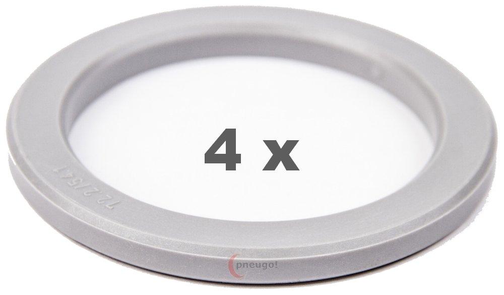 4/x Bague de Centrage 72.2/mm sur 54,1/mm Gris clair//lightgrey