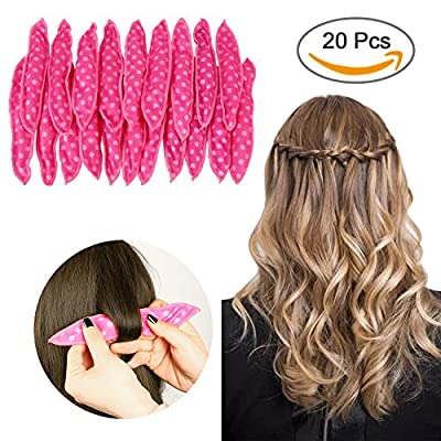 Sponge Flexible Foam Hair Curlers,ARTIFUN 20pcs Soft Sleep Pillow Hair Rollers Set Magic Hair Care DIY Styling Tools for Long Medium Wavy,Tight, Spiral Curls Hair