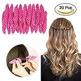 ARTIFUN 20pcs Sponge Flexible Foam Hair Curlers DIY Night Sleep Soft Pillow Hair Rollers Styling Tool