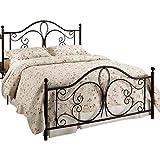 Hillsdale Furniture 1014BKR Milwaukee Bed Set with Rails, King, Antique Brown
