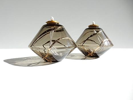 Lampade Cristallo Di Boemia : Lume aki in cristallo di bohemia soffiato e decorato a mano