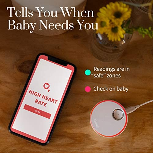 51K02MSQ8bL. AC - Owlet Duo Smart Baby Monitor With HD Video, Oxygen, And Heart Rate