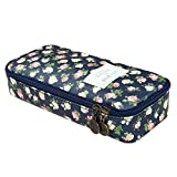 D.Sword Cute Pencil Case for Kid,Big Capacity Pen Bag Student Office Stationery Organizer for College Middle School Grade School,Floral Pencil Pouch Cosmetic Bag Makeup Bag(deep Cyan)