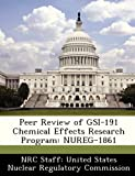 Peer Review of Gsi-191 Chemical Effects Research Program, , 1249920027