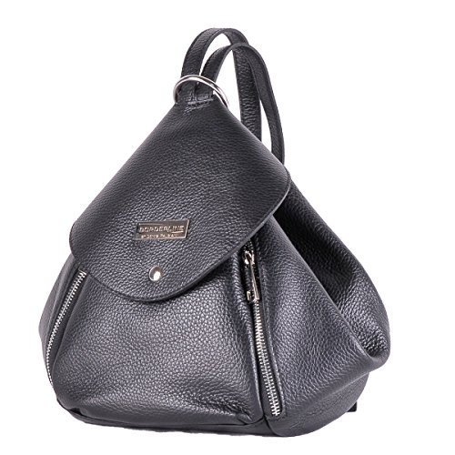 Femme 100 En In Made Amelia Noir Dos Sacà Borderline Italy Cuir RPnxYqf