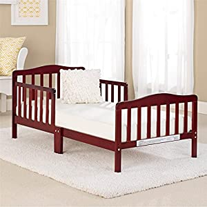 Big Oshi Classic Design Toddler Bed – Sturdy Wooden Frame for Extra Safety – Modern Slat Design is Great for Boys and…