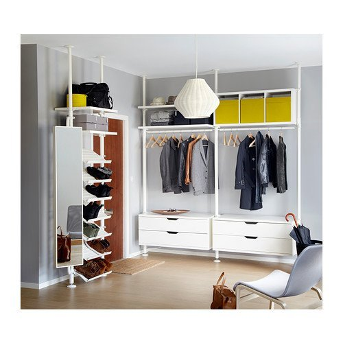 IKEA(イケア) STOLMEN 1セクション, ホワイト (09002288) (090.022.88)