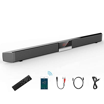 Barra de Sonido para Cine en casa (Bluetooth 4.0, 40 W, con 4 ...
