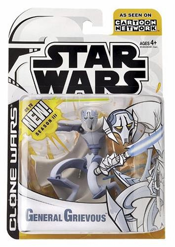 Star Wars The Animated Series GENERAL GRIEVOUS Figure Clone Wars 2003 - General Grievous Toy