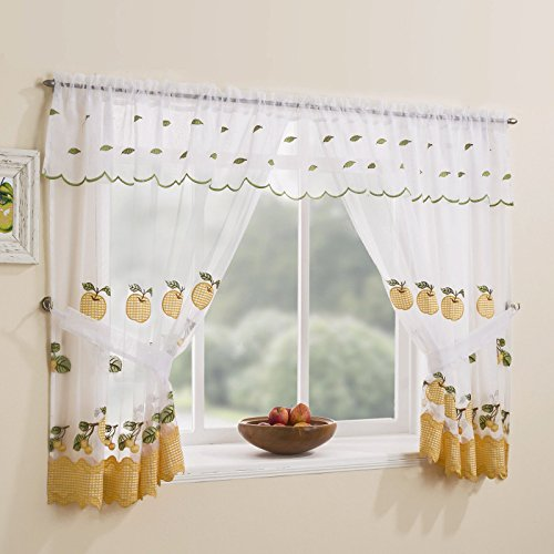 Tyrone Winchester Kitchen Window Set Check Curtains & Tie Backs & Valance 47
