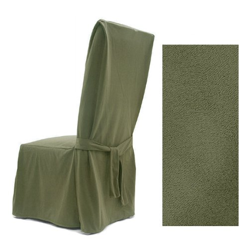 - Ultra Suede Sage Pine Dining Chair Covers Set of Four 646