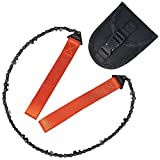 Bchway Pocket Chainsaw, Portable Folding Hand Saw Chain Tool Pruning Saws with case for Wilderness Survival, Camping, Tree Cutting, Hunting and Outdoor Exploring