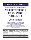 Rigos Primer Series Uniform Bar Exam (UBE)  Multistate Bar Exam (MBE) Volume 2