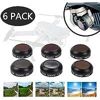 DJI Mavic Filter - DJI Mavic Pro Filters - DJI ND Filter - DJI Mavic Polarizer Filters -Platinum HD Lens Filters Kits (UV + CPL + ND4 + ND8 + ND16 + ND32 Filter) 6 PACK