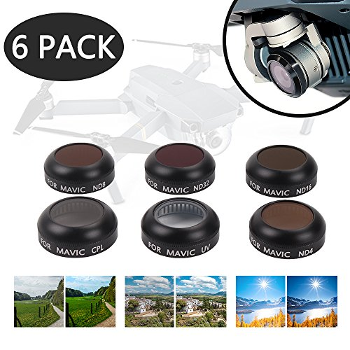 DJI Mavic Filter - DJI Mavic Pro Filters - DJI ND Filter - DJI Mavic Polarizer Filters -Platinum HD Lens Filters Kits (UV + CPL + ND4 + ND8 + - Platinum Review Lens Filter