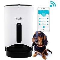 JEMPET Petwant Smart Feeder Alimentador automático de Mascotas para Perros y Gatos, controlado por teléfono Inteligente, alimentador automático de Mascotas con WiFi (F3W, 2.8L (6portion))