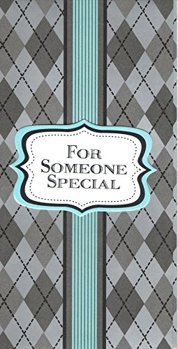 Embossed Silver Foil Handmade Money or Gift Card Holders ~ For Someone Special (Silver Diamond Background with Teal Stripe; Set of 6; Red (Diamond Silver Foil)