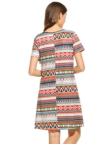 Tunic Size Dresses Sleeve Tunic Short Women for Dress Printing to cindere Tunics Dresses Tunic Orange for Women wear Plus Z7gqpxFWw