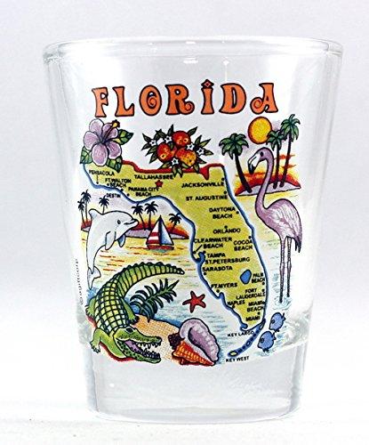 Florida Map Shot Glass