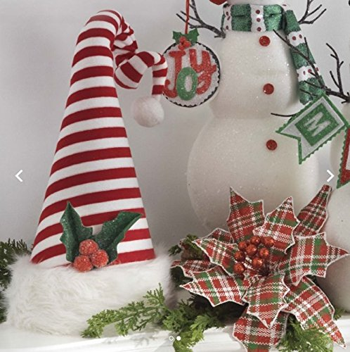 "Santa Hat Christmas Tree Topper: RAZ IMPORTS 15.5"" SANTA HAT TREE TOPPER"