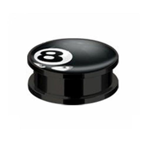 1 PAAR Kunststoff Plug WÜRFEL Ohrpiercing Old School Piercing 6MM Ohrring Ohr