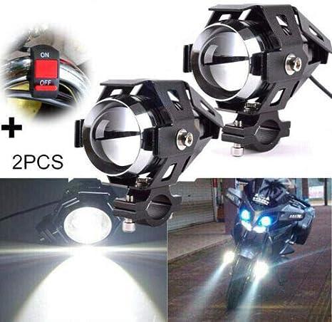 GCAILIAOSHIYOU Phare de moto U5 LED DRL 125W Feu antibrouillard spot