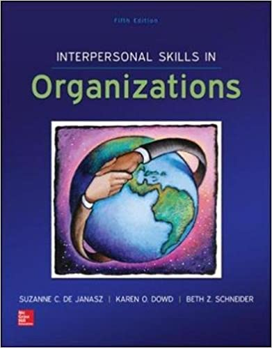 Interpersonal skills in organizations suzanne de janasz karen o interpersonal skills in organizations 5th edition fandeluxe Image collections