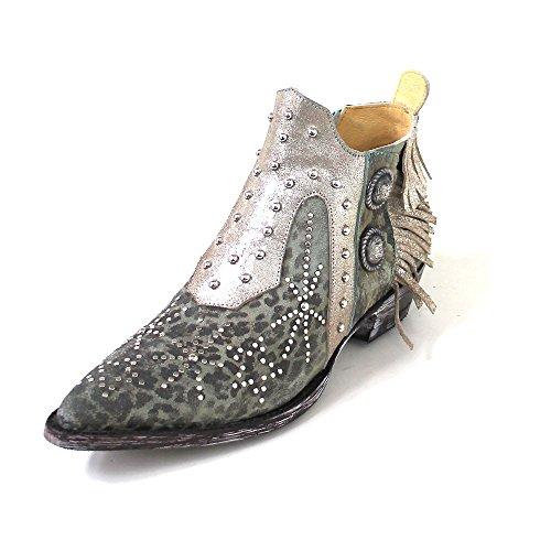 Mexicana Women's Cowboy Boots Grün (turquoise leopardito goat) PxTGwTAz