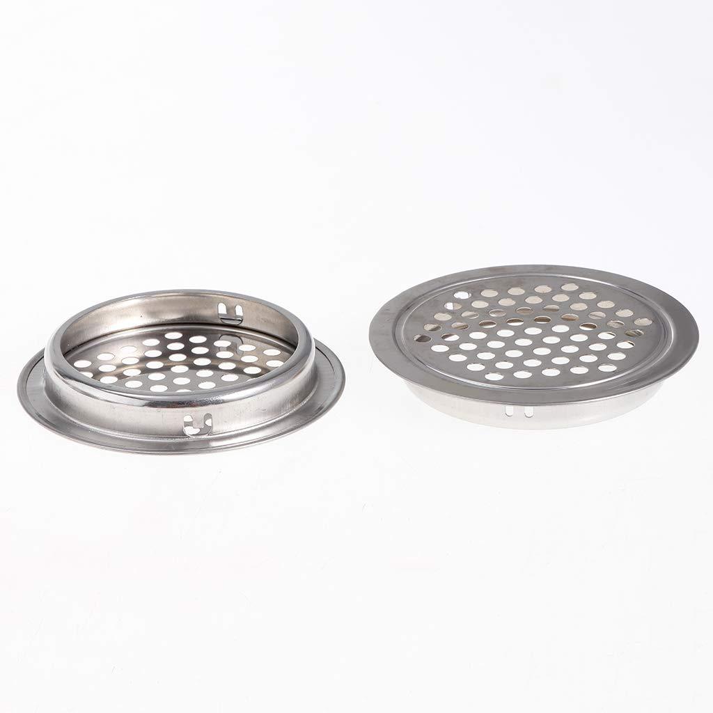 25 mm Fenteer 10 Pz Fori Tondi Maglia Coperchio Sfiato Armadio Cucina Accessori Acciaio Inox