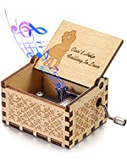 skonhed Can't Help Falling in Love Music Box Vintage Engraving Wooden Hand-Cranked Music Box Gift for Birthday/Christmas/Valentines Day/Anniversary/Wedding/Mother's Day/New Year/Engagement Banquet