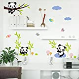 perfect dandelion wall decals  Hot Fashion Nursery Room Decor Removable DIY 3D Panda Bamboo Birds Flying Butterfly Wall Decals Kids Room Decorations Wall Stickers Murals Peel Stick Girls for Bedroom Classroom