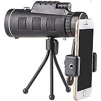 Monokular zoom optik lens teleskop 40x 60Cep telefonu için Clip ve üç ayaklı sehpa
