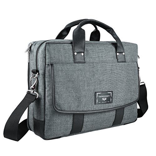 15 ~ 15.6 inch Laptop Bag, Twill Vegan Shoulder Messenger Bag For Laptop, Tablets, 2in1 Convertibles, Ultrabooks, Notebook, Chromebooks & Netbook Computers