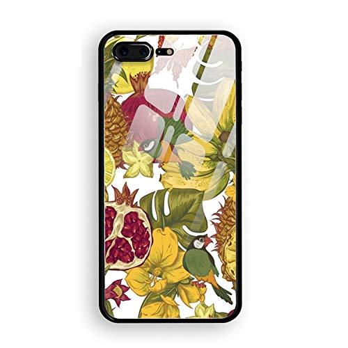 iPhone 8 Plus Plus Case Anti-Scratch Shock Proof Dust Proof Fruits Banquet Print PC Case