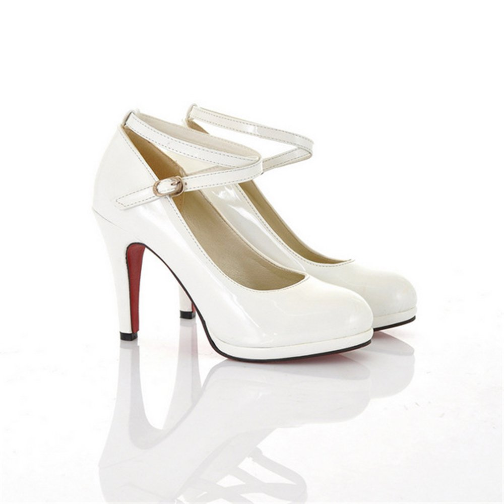 coloing Evening Party Shoes High for Women Stiletto High Shoes Heels Dress Shoes 41/10.5 B(M) US Women|White B07F6BT8MW c08a74