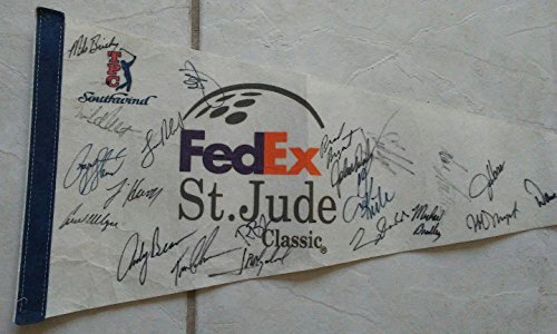 Payne Stewart Golf Legend Multi Signed Autographed Fedex Classic Pennant W/coa - Autographed Golf Equipment