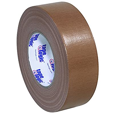 "Tape Logic T987100BR 10.0 Mil Duct Tape, 2"" x 60 yd, Brown (Pack of 24) by Tape Logic"