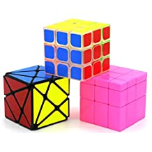 Heddi Magic Speed Cube Puzzle Transparent Transformers Mirror Cube - Pink 3*3*3 Brain Teaser Puzzle Cube Bundle Box Pack