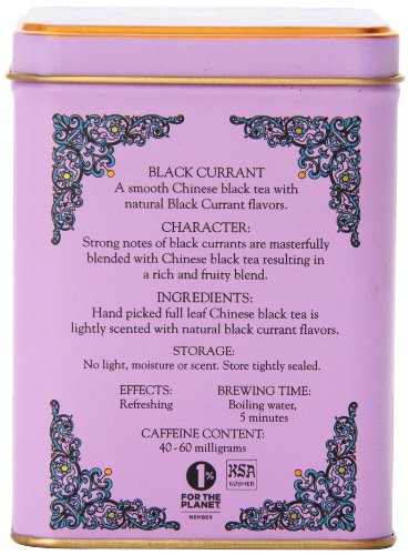 "Harney & Sons - Black Tea Black Currant 3 Caffeinated Black Currant Black Tea Tin Contains 20 Tea Sachets - Each Tea Sachet Brews a 12 oz Cup of Tea Enjoy this Big ""Fruity"" Berry Tea Hot or Cold"