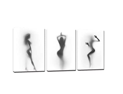 Amazoncom Sexy Nude Women Painting 3 Piece Picture Print On Canvas