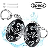 ARIZA Waterproof Personal Alarm, Self Defense Emergency Alarm Keychain, 120dB Security Safe Sound for Women, Kids, Students, Elderly and Night Workers 2 Pieces