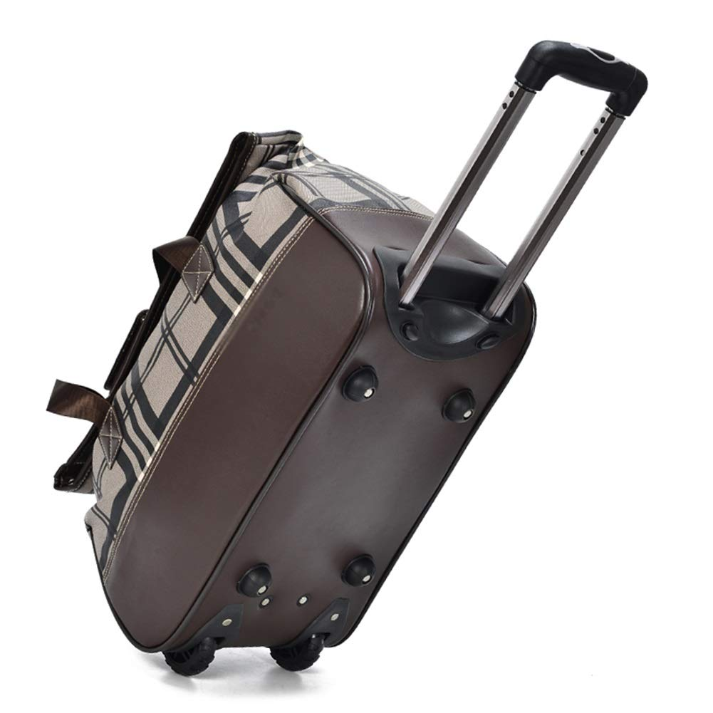 Color : Brown, Size : 522645 Travel Bags Luggage Bags High Capacity Student fold Light Trolley Case Luggage Suitcases Carry On Hand Luggage Durable Hold Tingting